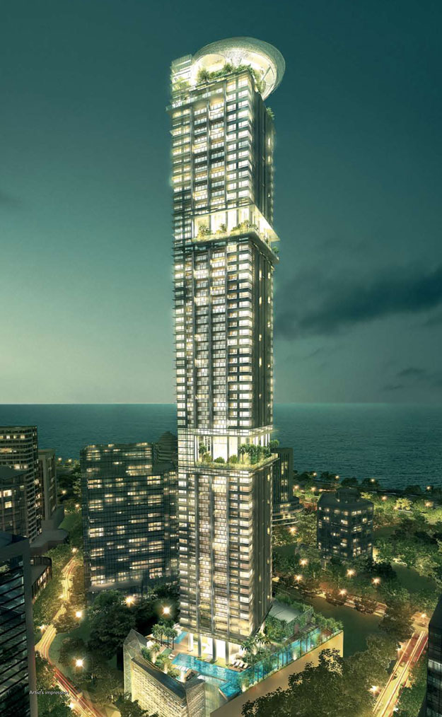 Skysuites anson condo review rental stats - Singapore tallest building swimming pool ...